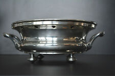 Antique French Christofle Large Silver Plate Chafing Plate Warming Dish