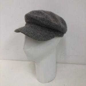 White Stuff Wool Blend Flat Cap Newsboy Gatsby Hat Grey Womens