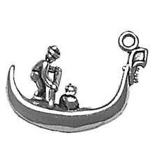Gondola Boat Charm Sterling Silver Pendant 3d Water Venice Italy