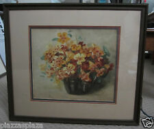 Ferguson 1907 signed original still life floral watercolor painting beautiful!