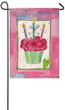 "Birthday Cupcake Garden Flag Dessert Celebrate Birthday  12.5""x18"" Two Sided"