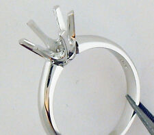 1CT SOLITAIRE RING SETTING 14K WHITE GOLD GORGEOUS SETTING