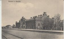 Ansichtskarte  Polen  Suwalki  Bahnhof   Feldpost  1915