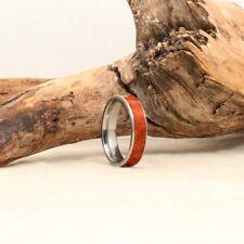 Men's Wood & Titanium Ring - Professionally Handmade - STUNNING & UNIQUE!