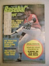 1974 August Baseball Digest publication Gaylord Perry Cleveland Indians on cover