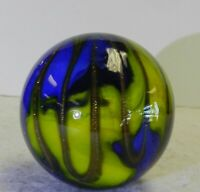 #10866m Handmade Contemporary Marble With Wavy Lutz 1.54 Inches *Mint*