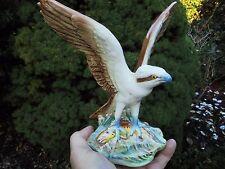 VINTAGE SYLVAC OSPREY FISH EAGLE WITH TROUT BIRD OF PREY
