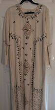 "BB SAMI HIGH FASHION FOLK Embroidered MUMU DRESS Size Medium Chest 47"" Length 51"