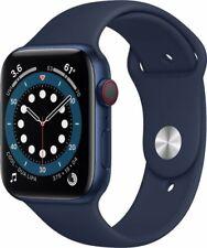 Apple Watch Series 6 44mm Aluminum Case Deep Navy Sport Band - Blue