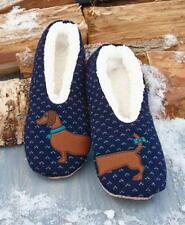 0ed3e383c8fd SHERPA LINED CRITTER SLIPPERS DASCHUND DOG TOES SLIP RESISTANT WARM    COMFY  ...