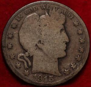 1915 Philadelphia Mint Silver Barber Half Dollar