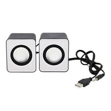 New Portable 3.5mm USB Power PC Laptop 2.0 Mini Speaker Stereo Sound Loudspeaker