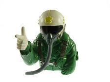 Pilotenpuppe Puppe Pilotenfigur Jet Flugzeug Pilot mit Handzeichen Modellbau Neu