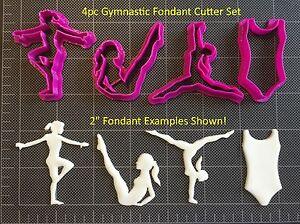 Gymnastics Cutter Set / Gymnastic Fondant Cutter Set / Cupcake Topper Cutter Set