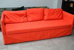 IKEA BRÅTHULT 3-Seat Sofa Cover Vissle Red - Orange Brand New