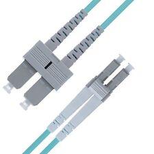 LC to SC OM4 Fiber Patch Cable Multimode Duplex - 5m (16ft) - Beyondtech