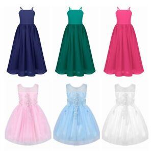 Girls Bridesmaid Dress  Flower Kids Party Wedding Dresses Princess Formal Dress