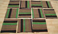 "VINTAGE PILLOWS 16"" TURKISH KELIM RUG SQUARE WOOL BRAIDED GREEN KILIM AREA RUGS"
