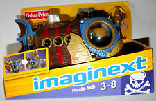 IMAGINEXT PIRATE SUBMARINE FISHER PRICE LITTLE PEOPLE TOY W/ACCESSORIES MIB