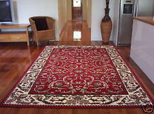 Extra Large Floor Rug Persian Designer Red Carpet 330 x 240  FREE DELIVERY 0257