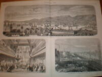 Port and Dock of Toulon France 1866 print