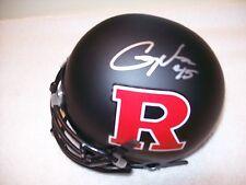 Gary Nova Rutgers Scarlet Knights Signed Mini Helmet W/Coa