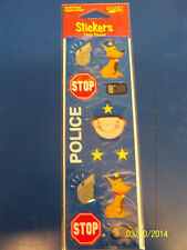 Rescue Pals Dog Police Officer Blue Kids Birthday Party Favor Scrapbook Stickers