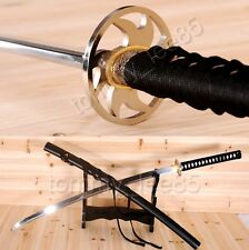 Full Tang 9260 Spring Steel Katana Heat Treated Blade Japanese Sword Sharp Edge
