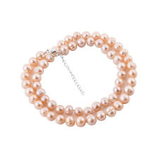 """LARGE 11-12 mm PEACH FRESHWATER PEARL Necklace with 925 Silver extender 20""""+2"""""""