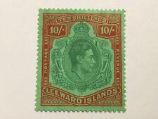 old stamp  LEEWARD ISLANDS    KGVI   10 shillings   mint