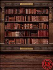 Libros Escolares Estante Marrón telón de fondo de Fondo Vinilo Foto Prop 5X7FT 150X220CM