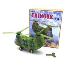MS465 KA-50 Green Camouflage Helicopter Retro Clockwork Wind Up Tin Toy