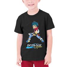 Beyblade Burst Turbo Aoibaruto T-shirts Boys Kids Casual Basic Tee Cotton Tops