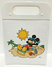 Vintage Disney Koolit Cooler Lunch bag Usa Mickey Mouse on the Beach Tropical