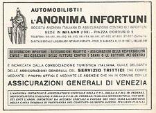 W9540 Assicurazione ANONIMA INFORTUNI - Pubblicità del 1938 - Old advertising