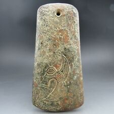 Chinese , noble collection, manual sculpture, jade, bird, axe Q035 =