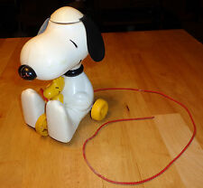 Romper Room SNOOPY 'COPTER' PULL TOY SPINNING EARS HELICOPTER w/Box