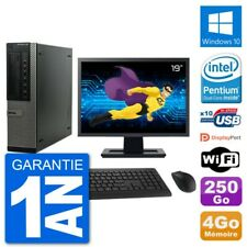 "PC Dell 790 DT Ecran 19"" Intel G630 RAM 4Go Disque Dur 250Go Windows 10 Wifi"