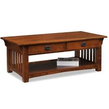 Leick Furniture Mission 2-Drawer Coffee Table in Medium Oak Finish, 8204 New