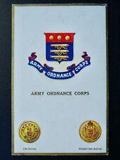 More details for regimental badges the army ordnance corps c1918 postcard gale & polden 1723