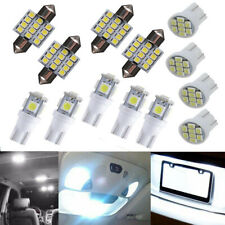 13Pcs Car White LED Lights Kit for Stock Interior Map Dome License Plate Lamps