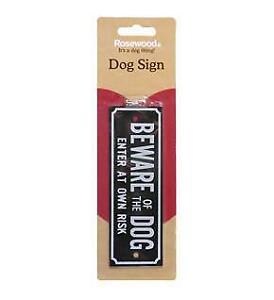 Beware Of The Dog Enter At  Own Risk Dog Warning Sign