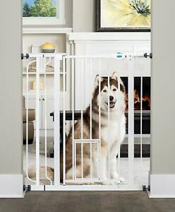 Carlson Extra Tall Walk Through Pet Gate with Small Pet Door Dog Cat 3DAYSHIP