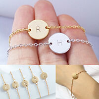 Simple Gold/Silver Cuff Bangle 26 Letter Bracelets Jewelry Personalized Chic Hot