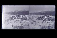 Francia Paesaggio Con La Neige Placca Da Lente Stereo Negativo Verso 1925