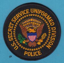 SECRET SERVICE UNIFORMED DIVISION POLICE PATCH  (Black)