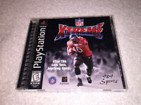 NFL Xtreme (Sony PlayStation 1, 1998) PS1 Black Label Game Complete Excellent!