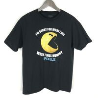 Pixels the Movie Licensed PAC-MAN T-shirt Size XL Youth Black
