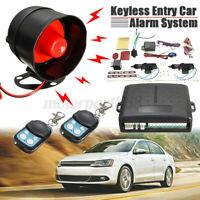 Auto Remote Central Locking Kit + Car Alarm For 2 Doors Immobiliser Shock