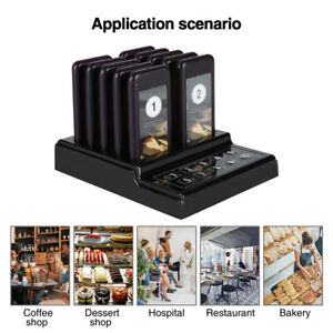 Restaurant Wireless Pager System 10-channel Guest Paging System Waiter Calling